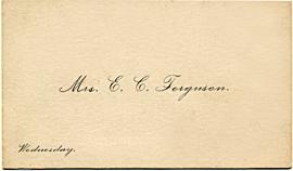 Mrs. Ferguson's calling card